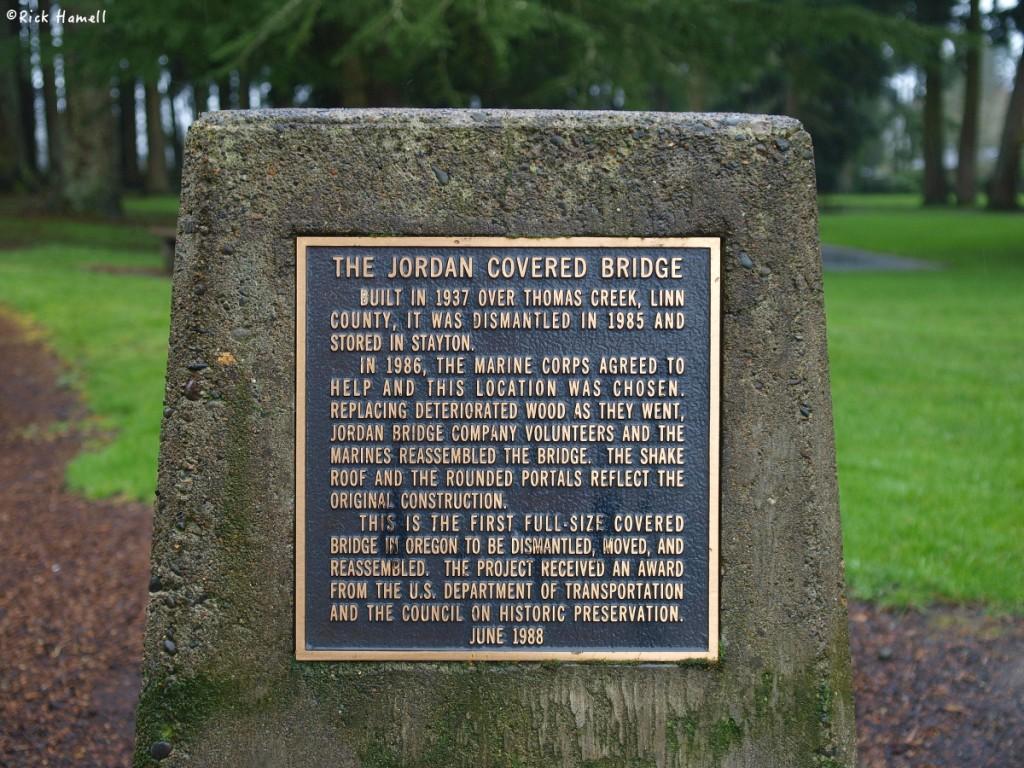 Jordan Covered Bridge, Stayton Oregon